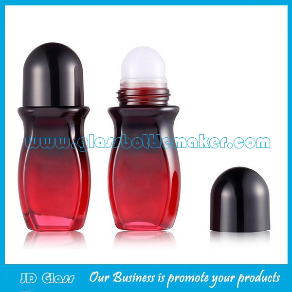50ml Colored Perfume Roll On Bottle With Cap and Roller