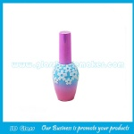 17ml New Design Glass Nail Polish Bottle With Cap and Brush