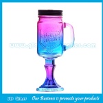 16oz Glass Mason Jar With Bottom Base For Wine Glass