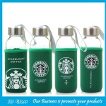 300ml Starbucks Sport Water Glass Bottle With Silver Cap